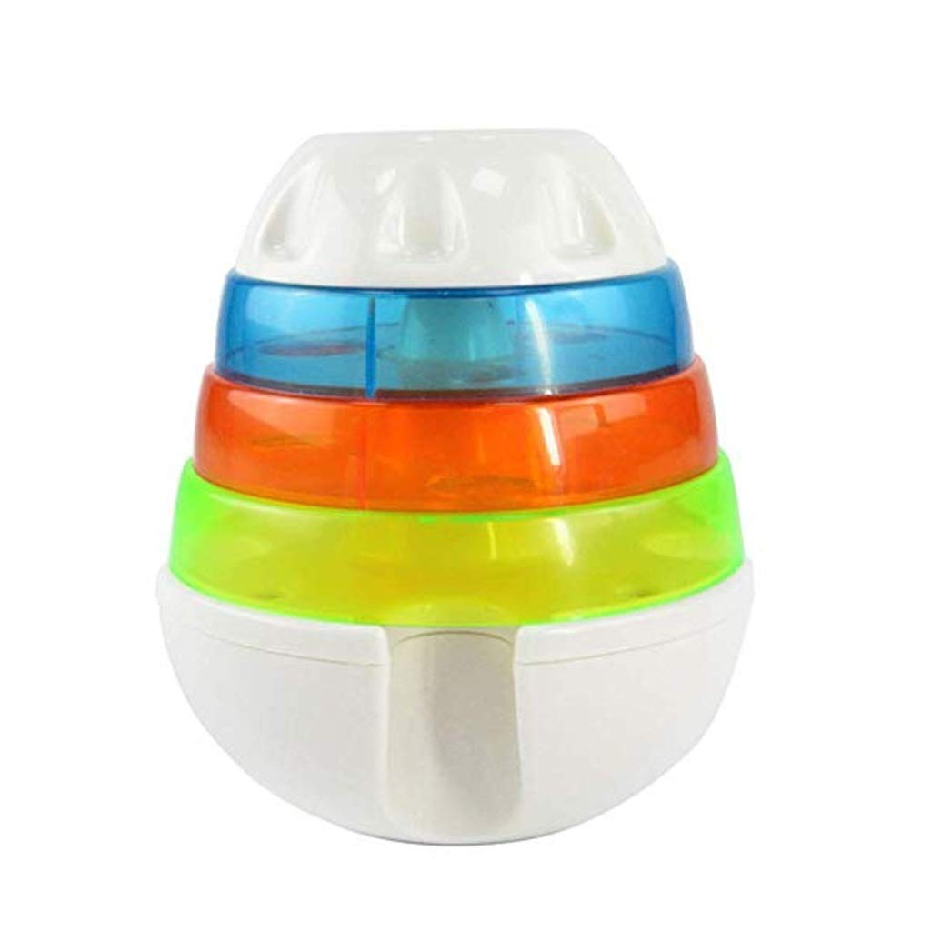 16cm JFya Pet puzzle training three layers of food leakage tower leakage food ball toys tumbler dog toy supplies (Size   16cm)