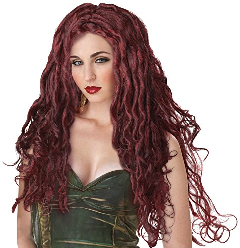Kids Medusa Costumes - California Costumes Medusa Wig, Dark Red, One Size