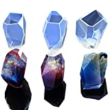 3 Shapes DIY Resin Diamond Jewelry Casting Molds, The Multi-Faceted Large Silicone Mold for Making Crafting