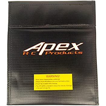 Large Lipo Battery Bag Fire Resistant for Safe Charging & Storage - 180mm x 220mm - Apex RC Products #8078