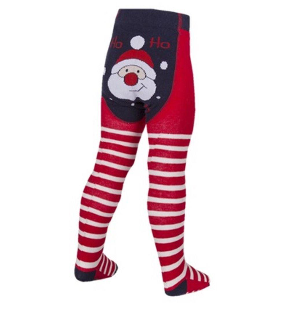 Festive Design - Collant - Bébé (fille) 0 à 24 mois Père Noël 0-6 mois