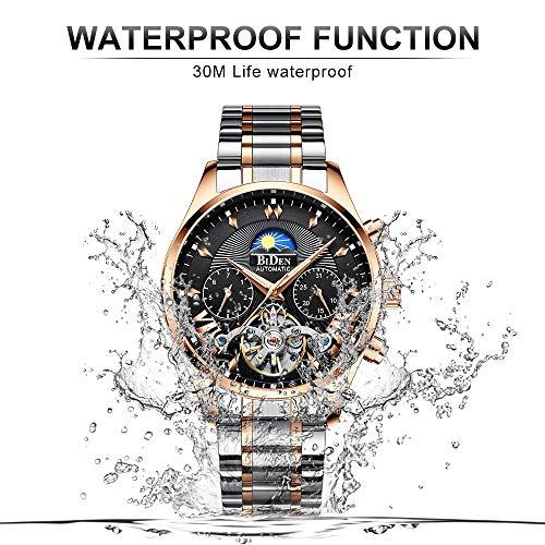 Fashion Automatic Men's Watches Tourbillon Mechanical Wristwatch, Luxury Luminous Skeleton Waterproof, Relojes Hombre