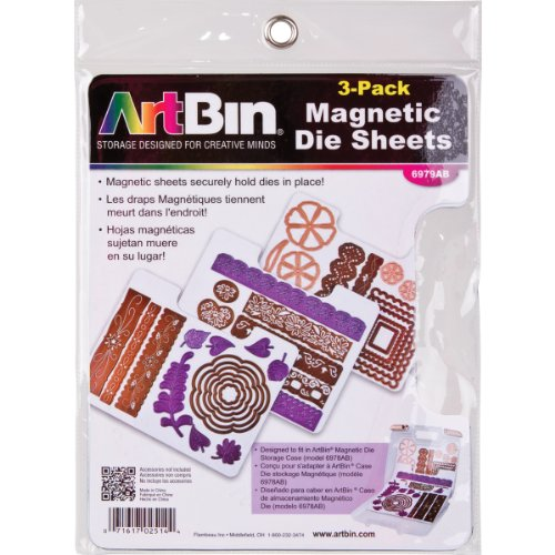 ArtBin Magnetic Die Sheets- 3/Pack 6979AB, refill for - Cutting System Magnetic
