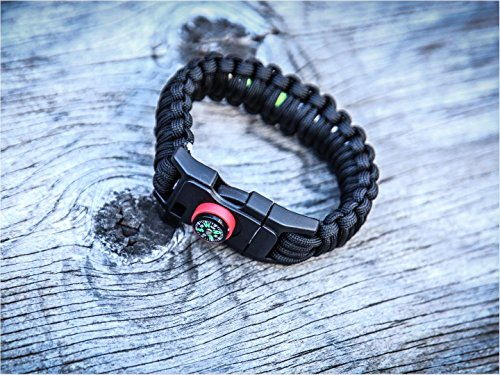 Holtzmans-Paracord-Bracelet-Emergency-Kit-Compass-Flint-Cutting-Tool-Survival-Fishing-Gear-Tinder-Whistle-Locking-Buckle-LIFETIME