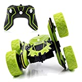 SZJJX Stunt RC Car, 2.4Ghz Double Sided Tumbling Remote Control Vehicle, 3D Deformation, Radio Controlled Off-road Truck RTR with 360 degree Flips Spinning Green