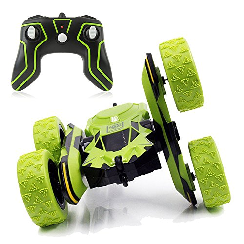 SZJJX Stunt RC Car, 2.4Ghz Double Sided Tumbling Remote Control Vehicle, 3D Deformation, Radio Controlled Off-road Truck RTR with 360 degree Flips Spinning Green by SZJJX