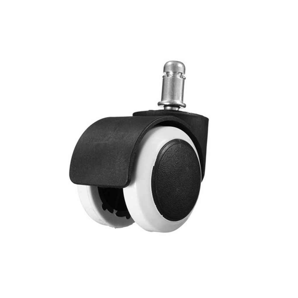 5Pcs 2'' Chair Caster Wheel Swivel Rubber Wheel Office Home Wooden Floor Protection Xuanhemen by Xuanhemen (Image #1)