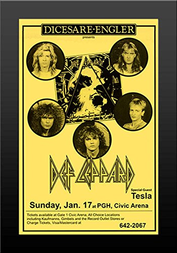 (11x17 FRAMED Poster Print Def Leppard Live at Civic Arena)