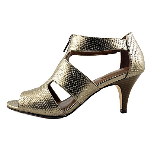 Style & Co.. Womens Halinaa Open Toe Casual Ankle Strap Sandals Pewter Snake DVS02