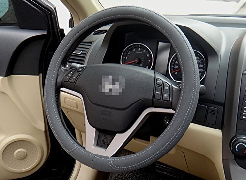 Gray Fashion Universal Fit Leather Texture Soft Silicone Car B Steering Wheel Cover Medium Size Odorless 3 Colors JEEP Grand Cherokee Texture Fashion