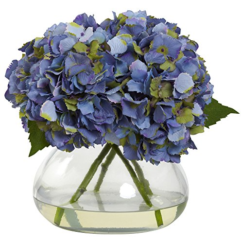BL Blooming Hydrangea with Vase, Large, Blue ()