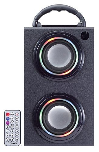 CRAIG CR4197BT Digital Mini Tower with Color Changing Lighted Speakers and Bluetooth Wireless Technology
