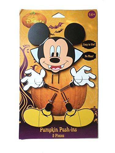 (Mickey Halloween Wood Pumpkin Push-In 15 in )