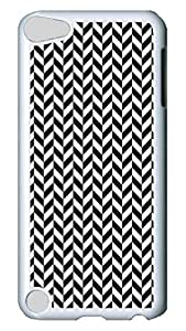 Brian114 Case, iPod Touch 5 Case, iPod Touch 5th Case Cover, Black And White Prism2 Retro Protective Hard PC Back Case for iPod Touch 5 ( white )
