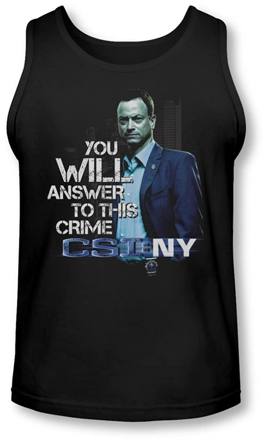 Csi Ny - Mens You Will Answer Tank-Top