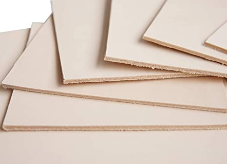 2.5-3mm NATURAL VEG TAN LEATHER OFF CUTS PRICES ASSORTED SIZES FREE POST