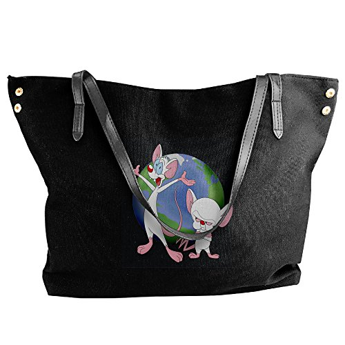 [Pinky & The Brain Animaniacs Women's Shoulder Bags Casual Handbag Travel Bag Messenger Canvas Bags] (Pinky Brain Costume)