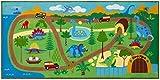 Olive Kids Dinosaur Land 80'' x 39'' Play Rug by Olive Kids