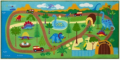 Olive Kids Dinosaur Land 80'' x 39'' Play Rug by Olive Kids