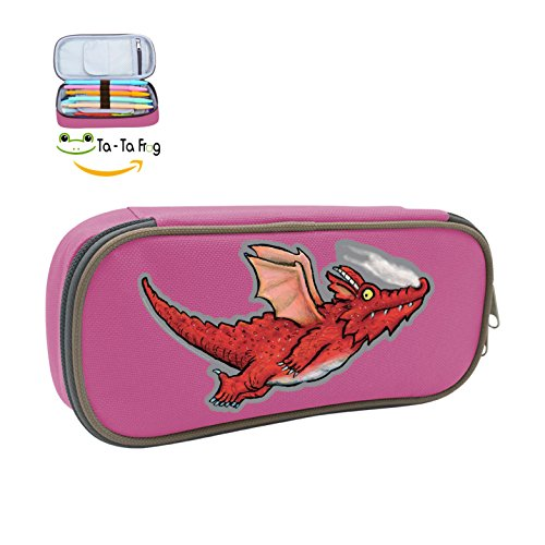 Pen Case Red Dinosaur Pencil Bag Big Capacity Multifunction Canvas-Pink for boy girl]()