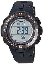 Casio Men's Pro Trek Quartz Watch with Resin Strap, Black, 23 (Model: PRG330-1)