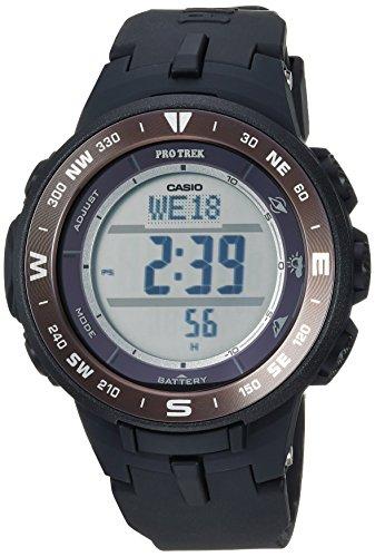 Casio Men's 'Pro Trek' Quartz Resin Watch, Color:Black (Model: PRG-330-1CR)