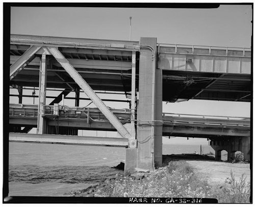 Photo: San Francisco Oakland Bay Bridge,California,CA,HABS,San - Shopping Fran Map San