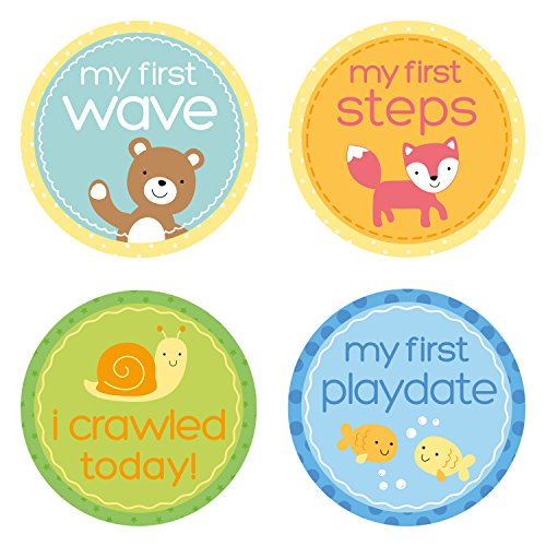 Tiny Ideas Baby's Milestone Stickers, Multi]()