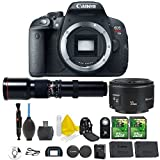 Canon EOS Rebel T5i 18.0 MP CMOS Digital Camera Digital SLR Camera and DIGIC 4 Imaging + 500mm Preset Telephoto Lens + Canon EF 50mm f/1.8 II Lens + 2pc 32GB Memory Cards + Premium Camera Backpack