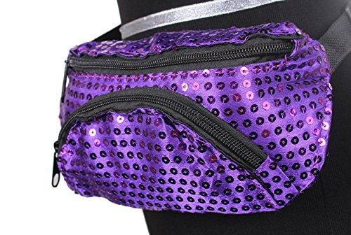 purple sequin fanny pack - 3