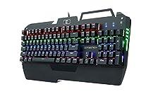 KrBn Mechanical Keyboard PC Gaming Muticolor Full Size Backlit Ergonomic Phone Holder 2017 Newest