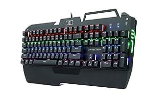KrBn Mechanical Keyboard PC Gaming Muticolor Full Size Backlit Ergonomic Phone Holder 2018 Newest