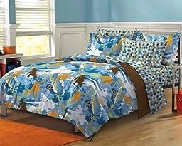 My Room Extreme Sports Ultra Soft Microfiber Boys Comforter Set, Multi-Colored, Full