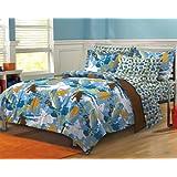 Extreme Sports Ultra Soft Microfiber Boys Comforter Sheet Set, Blue Multi