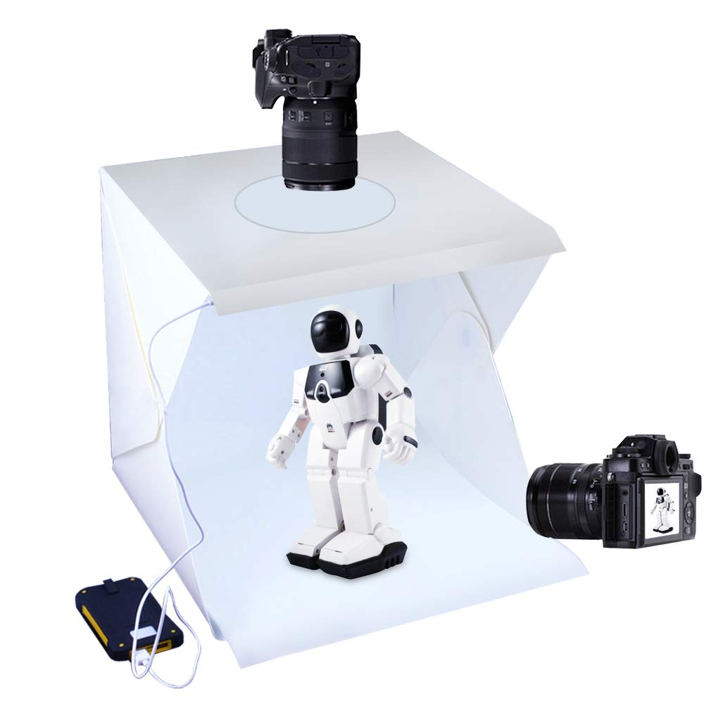Photo Studio Tent Jewelry Light Box Kit, SENLIXIN Portable Foldable Home Photography Studio Light Box Booth Shooting Tent with LED Light Strips - with 2 Color Background (40x40x40cm Photo Studio)
