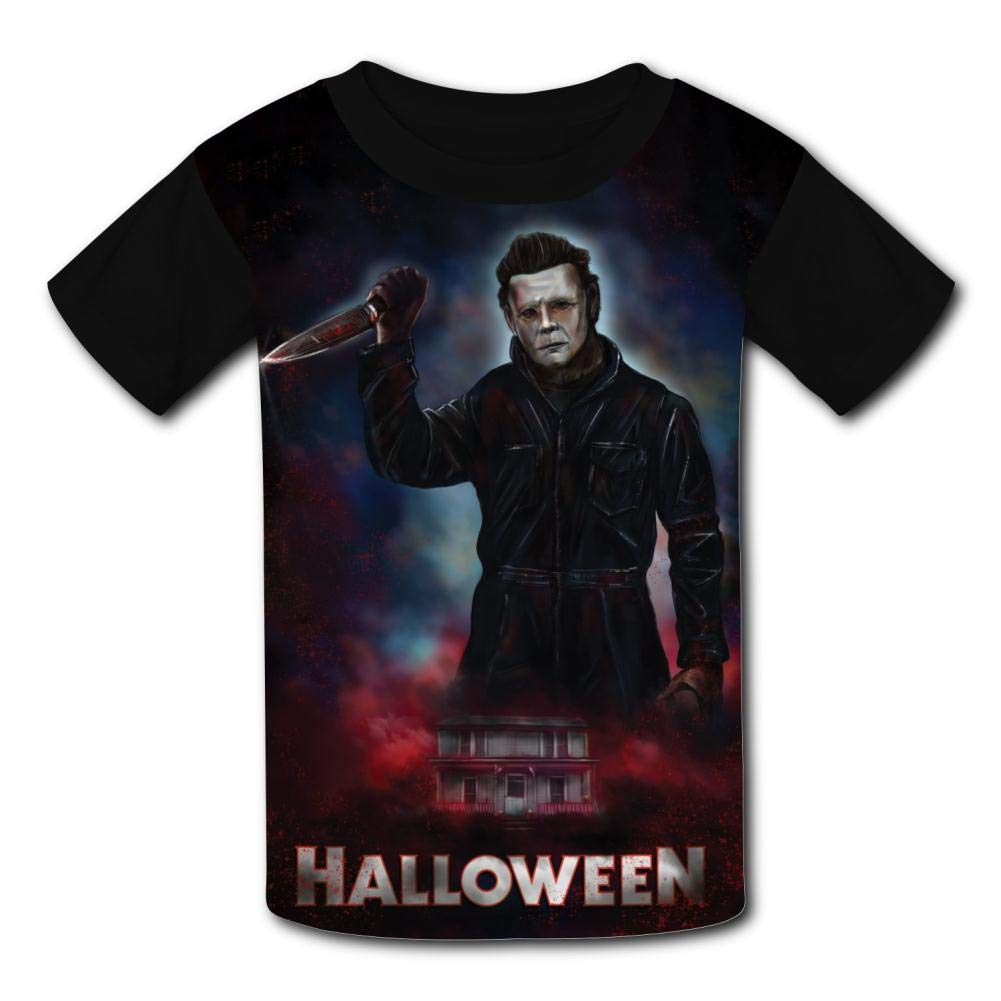 MOEYBOR Mi-Chael-Myers Come Back Halloween T-Shirts,Novelty Short Sleeves Tee for Kids//Teen//Boys//Girls