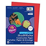 SunWorks 9903 Construction Paper, 58 lbs, 9 x 12, Holiday Red, 50 Sheets/Pack (Original Version)