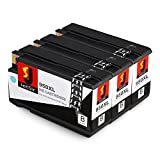 JetSir 3 Pack Black 950xl High Capacity Replacement Ink Cartridge for Hp 950 Work with Hp Officejet Pro 8600 8610 8000 8620 8630 8640 8660 8615 8625 251dw 276dw Printer