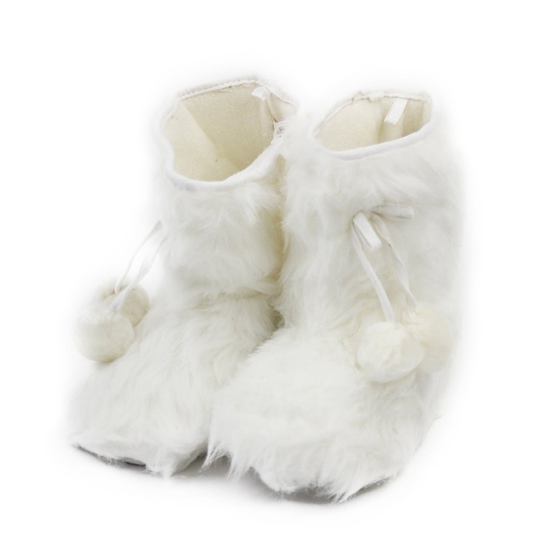 Home Slipper Indoor Boots,Womens Girls Winter Warm Fairisle Fringes with Pom Poms Fashionable House Booties, Size XL