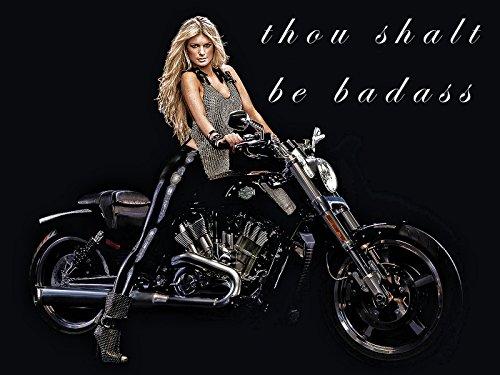 Motorcycle Poster Harley Davidson Model Biker Babe