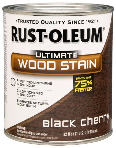 Rust-Oleum 260152 Ultimate Wood Stain, Quart, Black Cherry