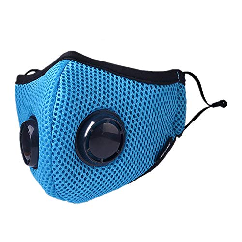 HOLIIBN Anti Pollution Face Mask with 5 Pieces N95/N99 Protection Air Mask Filters,Anti Smoke, Exhaust Gas, Dust, Pollen, Allergens,Hiking, Running, Walking, Cycling, Ski and Other Outdoor Activities