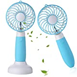 small 3 speed fan - Welltop Handheld Fan USB Rechargeable Desk Fan Portable Small Fans 3 Speeds Personal Fan for Home Office Travel