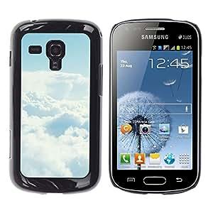EJOY---Cubierta de la caja de protección la piel dura para el / Samsung Galaxy S Duos S7562 / --Cielo despejado Nube