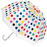 Clifton Umbrellas Kids' Birdcage Multi Spots Umbrella, PVC, Kid Friendly, Rainbow