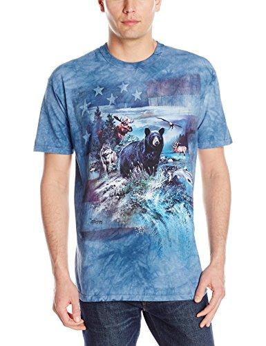 Mountain Erwachs Patriotic Nord Amerika Collage Tier T Shirt