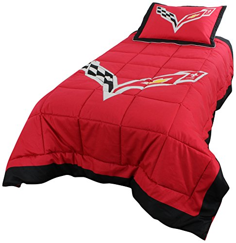 "College Covers 2 Piece C7 2 Corvette Comforter Set, 68"" x 86"