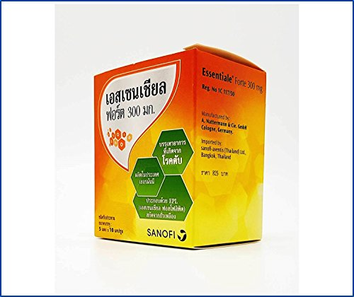 Essentiale Forte 300 MG (50 Hard Capsules in Blister) Each Capsule Contain EPL (Essential Phospholipids from Soya-Bean) 300 MG, A Preparation Supplement for Liver Care and Revitalize by Essentiale Forte 300 MG (Image #8)