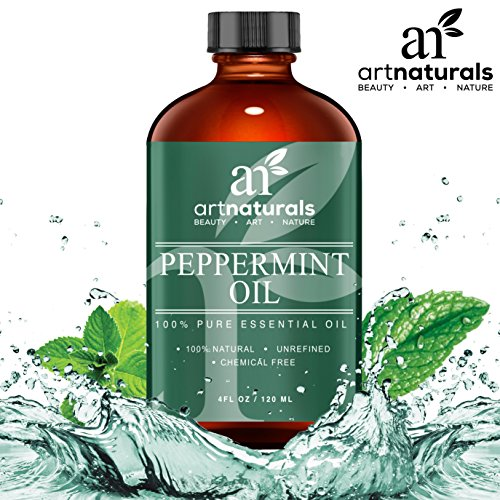 Art-Naturals-Peppermint-Oil-100-Pure-and-Natural-Premium-Therapeutic-Grade-Mentha-Peperita-Essential-4-Oz-Oil-Best-Fresh-Scent-for-Home-and-Work-Perfect-to-Repel-Mice-and-Spiders