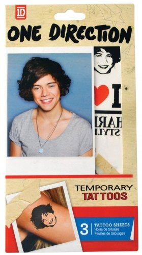 Tempt Tattous One Direction Waterbased Temporary Tattoo, Harry, 0.4 Ounce ()